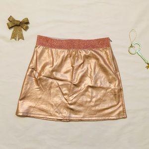 Rose Gold Glitter Shiny NEW Medium Mini Skirt